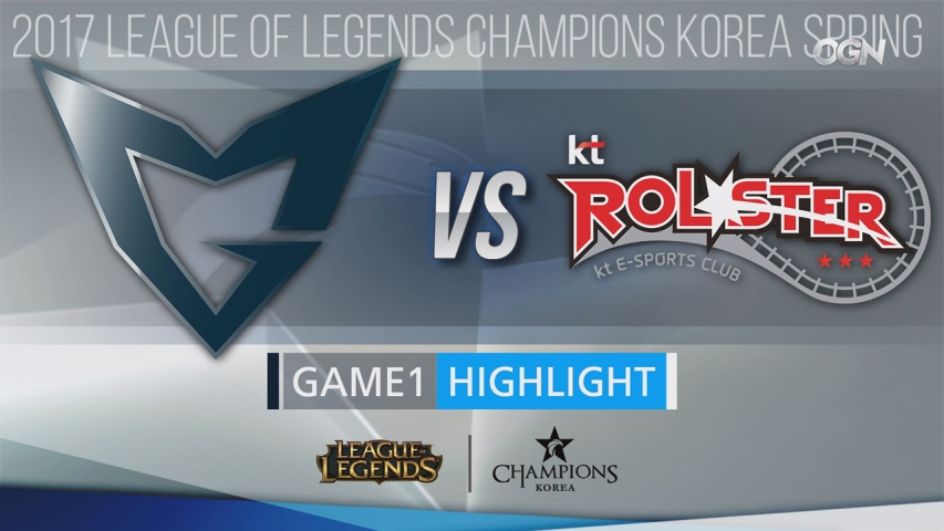 [H/L 2017.04.15] Playoff SAMSUNG vs KT Game1 - 2017 LCK Spring Split (롤챔스 하이라이트)
