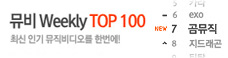 Weekly 뮤비 TOP 100